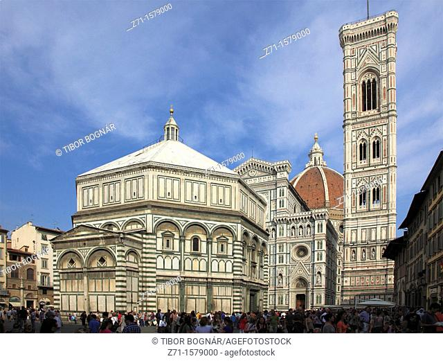 Italy, Tuscany, Florence, Baptistry, Duomo, cathedral