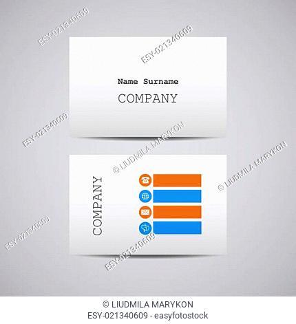creative white cardboard paper business card