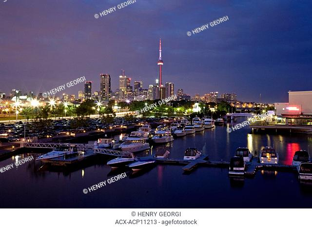 View of Toronto skyline from Ontario Place, Ontario, Canada