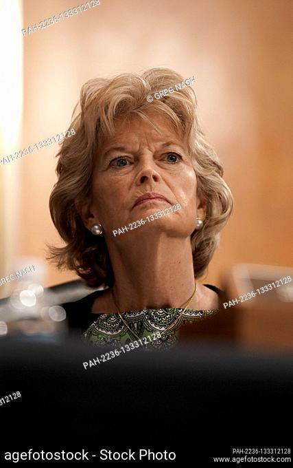 United States Senator Lisa Murkowski (Republican of Alaska) is seen during a US Senate Health, Education, Labor and Pensions Committee hearing on Tuesday