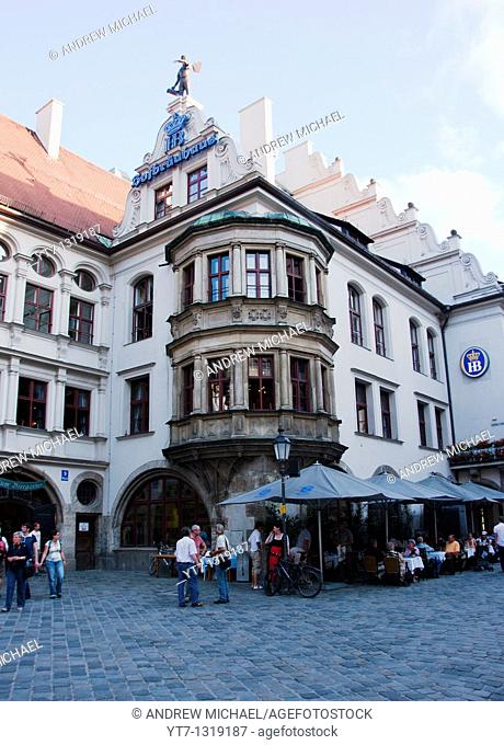 The famous Bier Keller of Hofbrauhaus, Munich, Germany