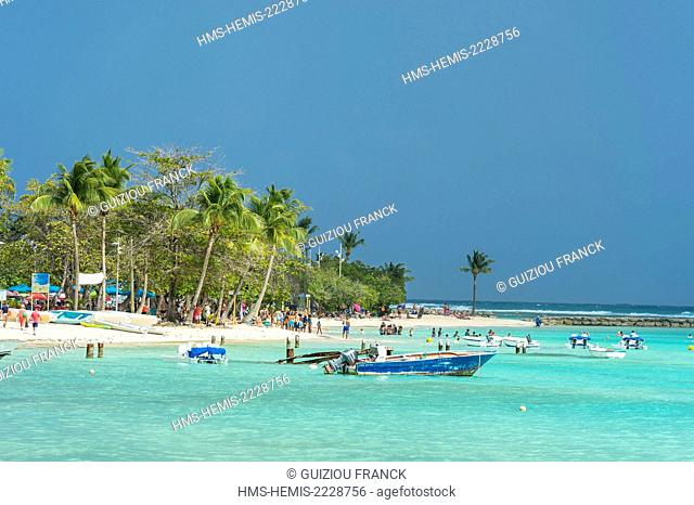 France, Guadeloupe (French West Indies), Grande Terre, Sainte Anne, municipal beach