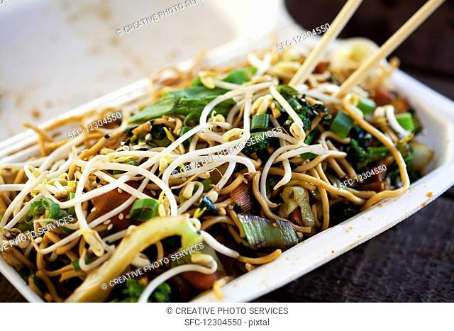 Fried noodles with vegetables (Asia)