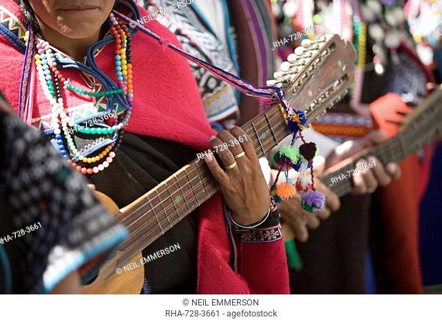 Musician at Carnival, Sucre, Bolivia, South America