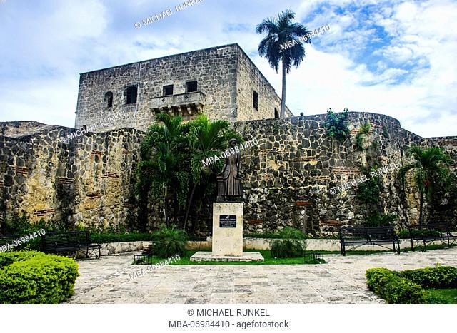 Mueso Alcazar de Colon on the Plaza Espagna, Unesco world heritage sight the old town of Santo Domingo, Dominican Republic