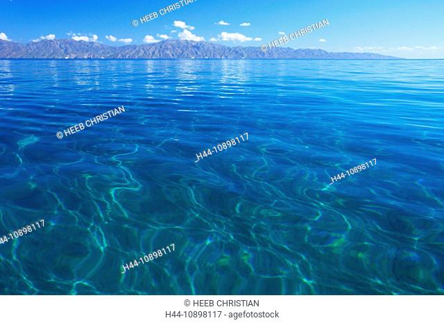 Crystal, clear, waters, Ventana Bay, El Sargento, Sea of Cortez, Baja California Sur, Baja, California, Sur, Mexico, Middle America