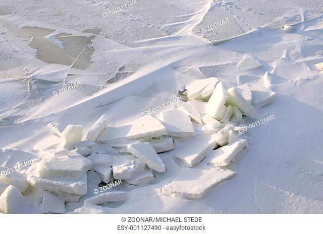 Ice on the Baltic Sea at the polar circle