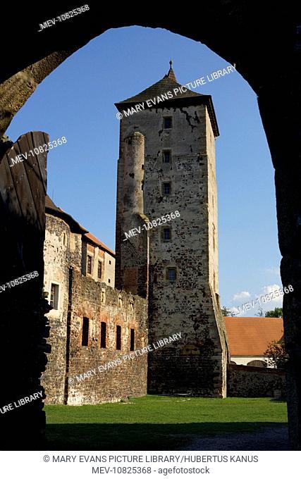 The Czech Republic, Svihov (Schwihau):Tower of Svihov Castle