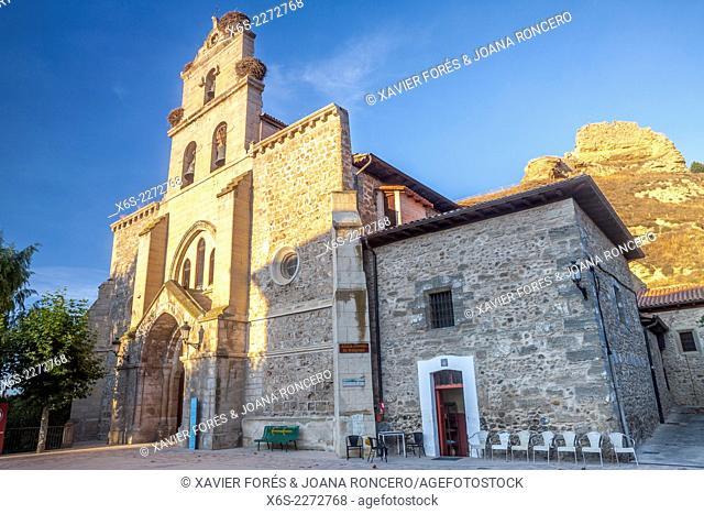 Chruch of Santa Maria in Belorado village in the Way of St. James, Burgos, Spain