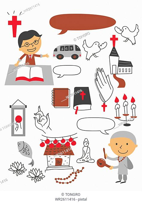 Illustration related to religious people