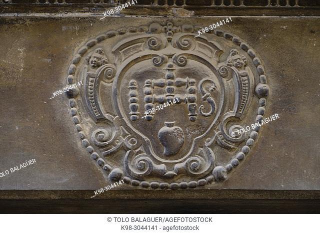 anagrama de Jesucristo, Portal del Forn de Ca na Mosca, alrededor del siglo XIX, Felanitx, Mallorca, balearic islands, Spain