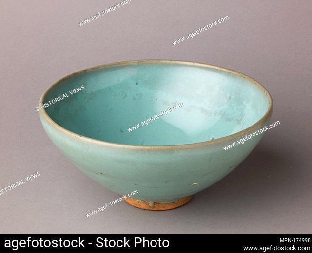 Deep bowl, Jun ware. Date: 11th-12th century; Culture: Chinese; Medium: Stoneware with blue glaze; Dimensions: Diameter: 7 5/8 in (19.4cm