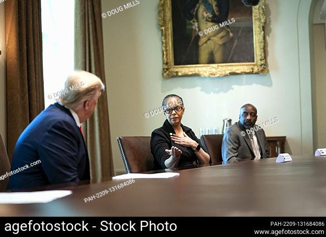 State Representative Karen Whitsett of Michigan, talks about her bout with the Coronavirus as United States President Donald J