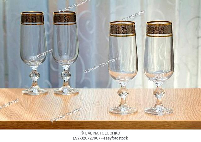 Four beautiful glass of the glass