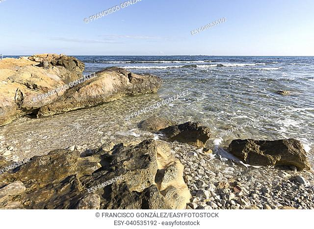 Coast of Santa Pola in the province of Alicante, Spain