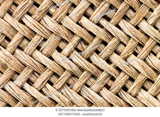 Weave texture or weave pattern background in macro style. Weaves pattern classic retro background for design