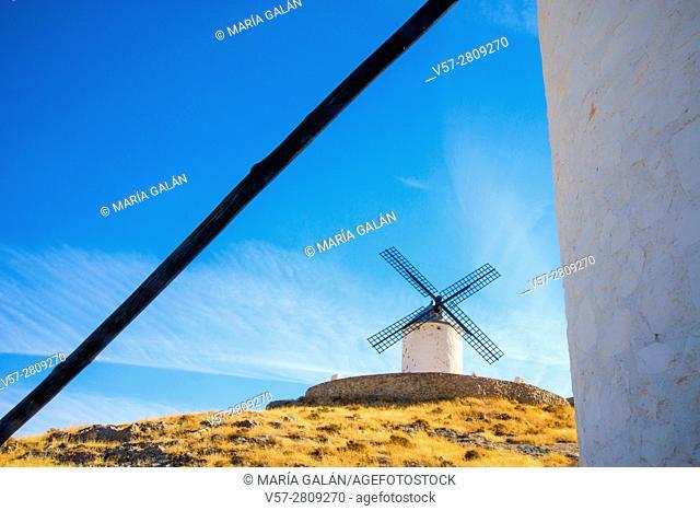 Windmill. Consuegra, Toledo province, Castilla La Mancha, Spain