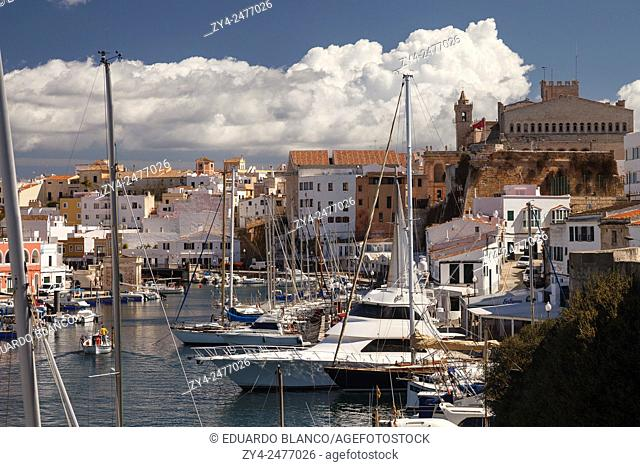 Port of Ciutadella. Minorca. Balearics islands. Spain. Europe