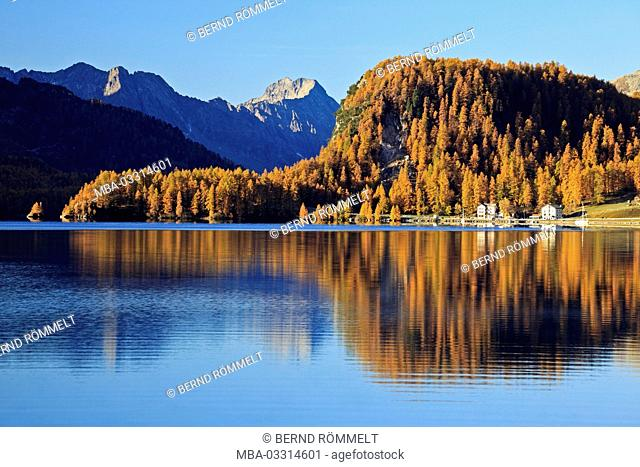 Switzerland, Canton of Grisons, the Engadine, Oberengadin, Silsersee