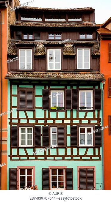 facade of the old house in Strasbourg