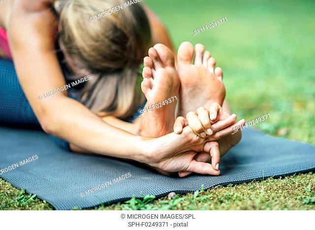Yoga seated forward bend