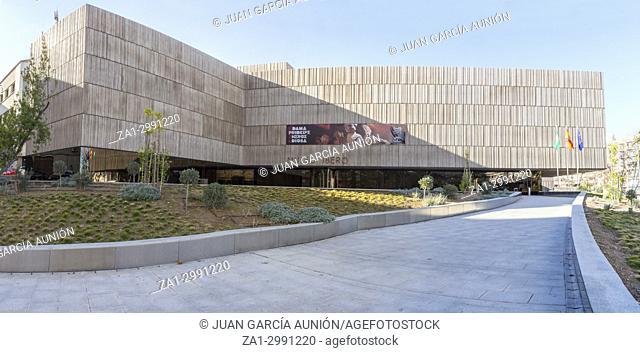 Iberian Art Museum Building in Jaen, Spain. Main entrance ramp