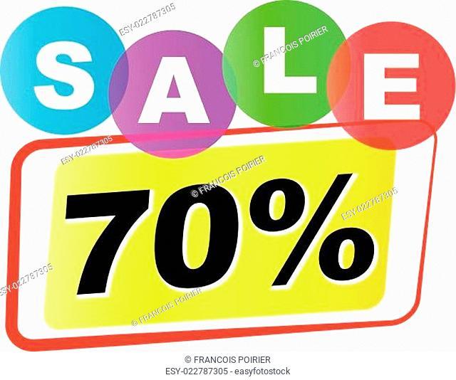 Vector seventy percent sale icon