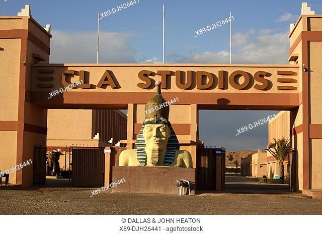 Africa, North Africa, Morocco, Atlas Mountains, Ouarzazate, CLA Studios, Entrance, Movie Studio