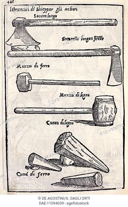 Tools for woodworking, table from Le venti giornate dell'agricoltura e dei piaceri della villa (The twenty days of agriculture and the pleasures of the villa)