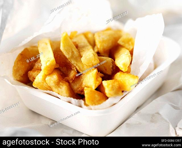French fries in cardboard tray