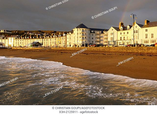 seaside resort, Aberystwyth, Wales, United Kingdom, Great Britain, Europe