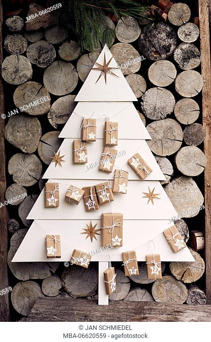 Self-made Advent calendar, Still life Christmas