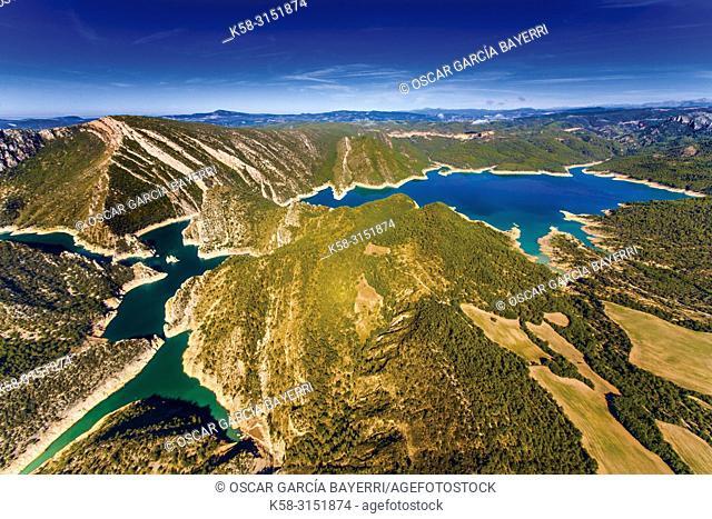Reservoir, Corça, Ager, lleida province, Catalonia, Spain