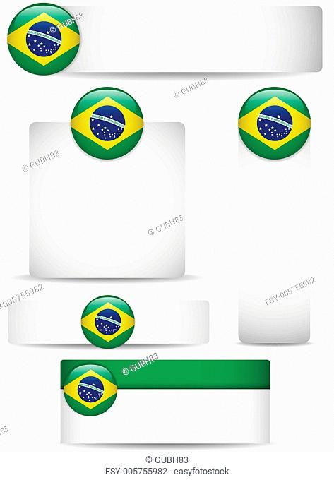 Brazil Country Set of Banners