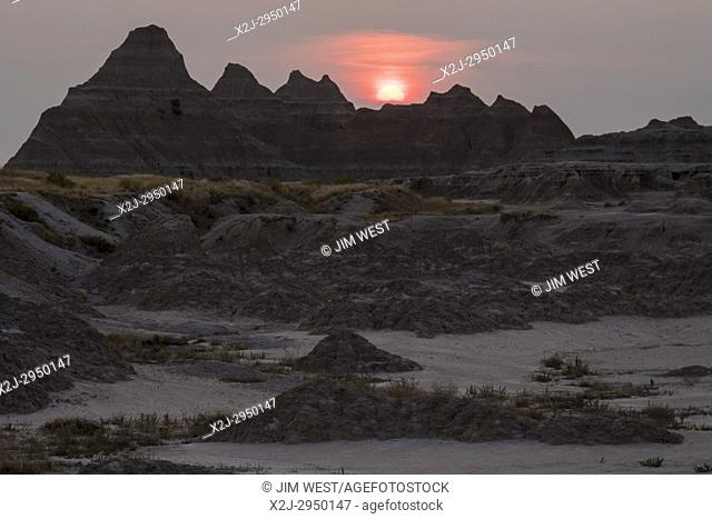 Sunset at Badlands National Park, South Dakota