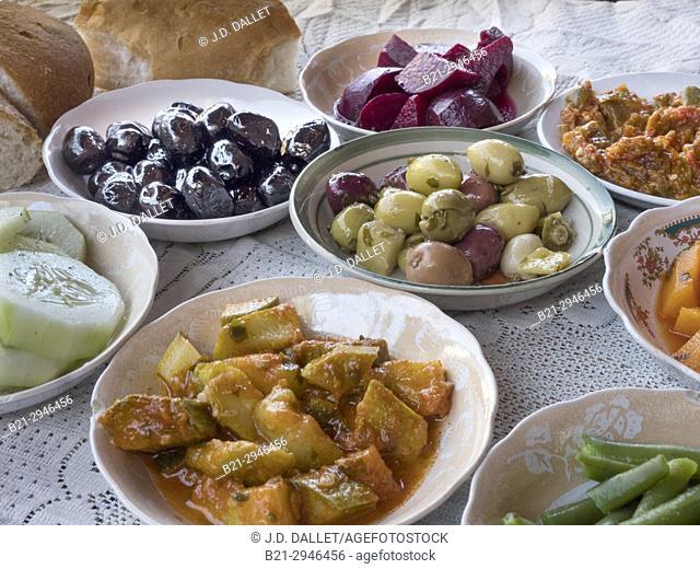 Morocco, Food. Moroccan salads