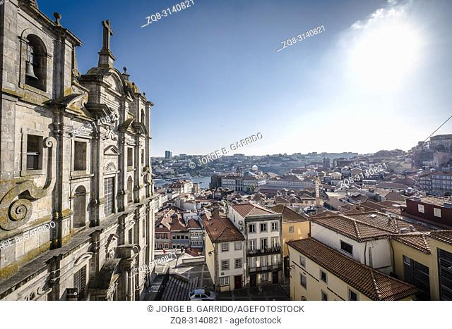 Panoramic view of Porto from Pillory of Porto, Portugal