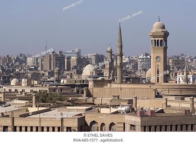 View of Cairo from Al-Azhar Park, Egypt, North Africa, Africa