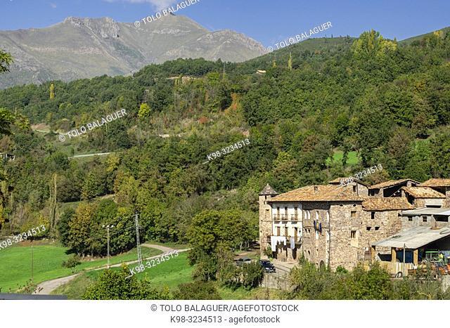 Ca de Llibernal, Noales , municipio de Montanuy, Ribagorza, provincia de Huesca, Aragón, cordillera de los Pirineos, Spain