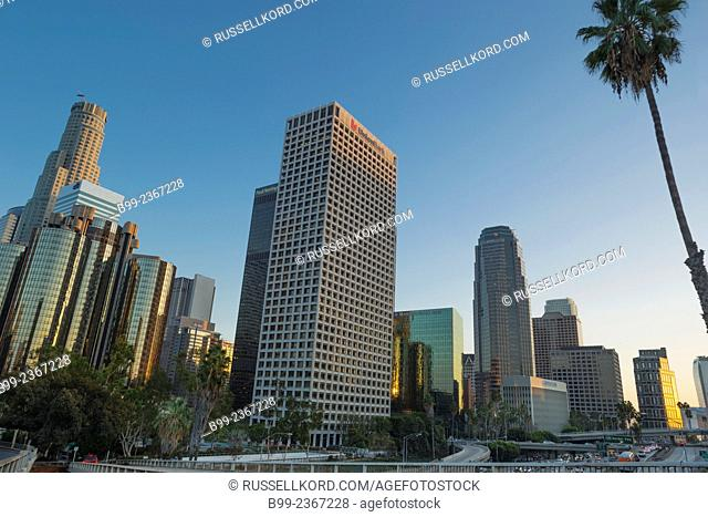 Skyscrapers Downtown Skyline Los Angeles California Usa