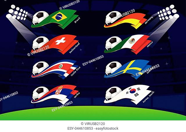 flag world soccer 2018,South Korea, ,Sweden,Mexico,Germany,Serbia,Costa Rica,Switzerland,Brazil