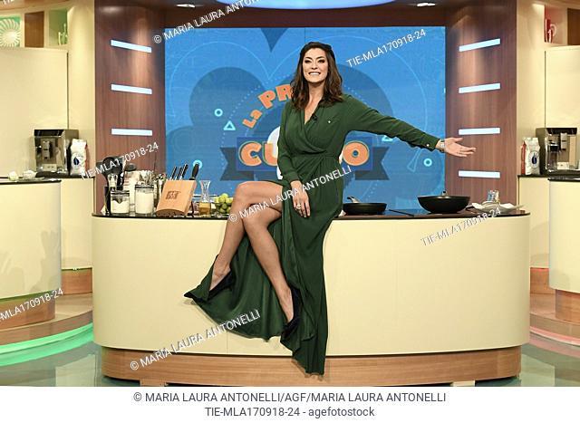 The tv host Elisa Isoardi during the tv show La prova del cuoco, Rome, ITALY-17-09-2018