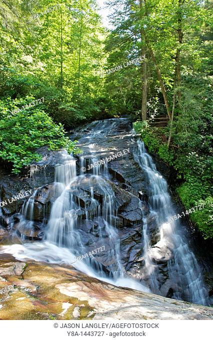 Batson Creek Falls on Batson creek, where it meets Carter Creek at Connestee Falls  Brevard, North Carolina, United States