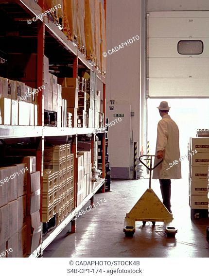 Worker in a Food Factory - London - England