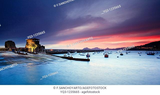 Sunrise, Bay of Castro Urdiales, Cantabria, Northern Spain