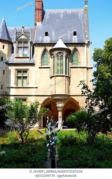 Musee du Moyen-Age Middle Ages Museum, the former Hotel de Cluny. Musée de Cluny. Paris. France
