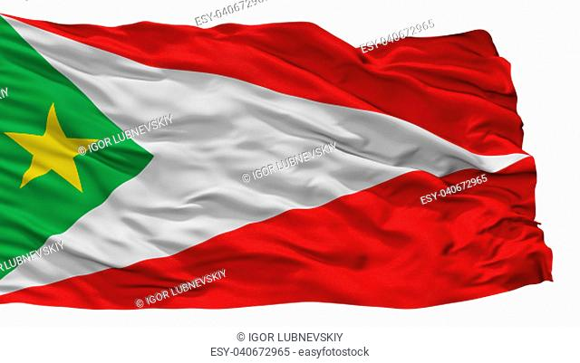 Cachipay City Flag, Country Colombia, Cundinamarca Department, Isolated On White Background