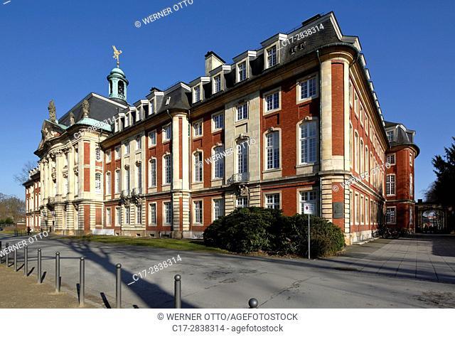 Germany, Muenster, Westphalia, Muensterland, North Rhine-Westphalia, NRW, prince-archbishopal castle, baroque, residence, university