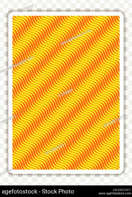 Playing Card Back side designs, isolated on transparent background. Vector illustration