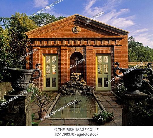 Brick Faced Glasshouse, Summer, Lodge Park, Straffan, Co Kidare, Ireland
